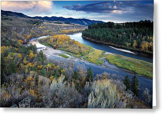 Rivers Bend Greeting Card by Leland D Howard