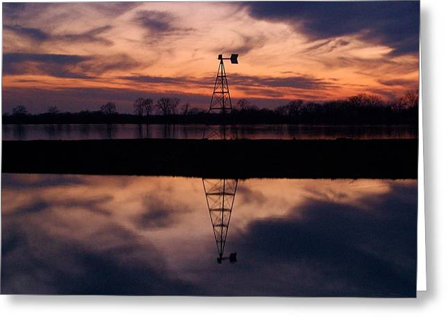Rivers Edge Greeting Card by Joseph Norvell
