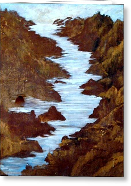 Greeting Cards - Rivers End Greeting Card by Sherri  Of Palm Springs