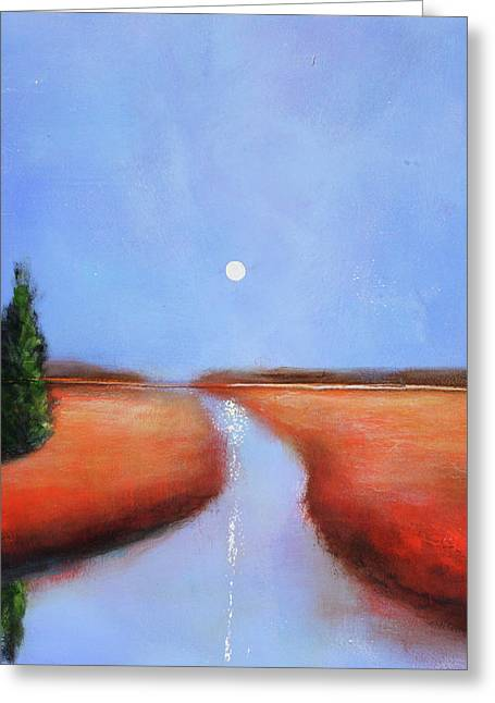 Rivers End Greeting Card by Toni Grote
