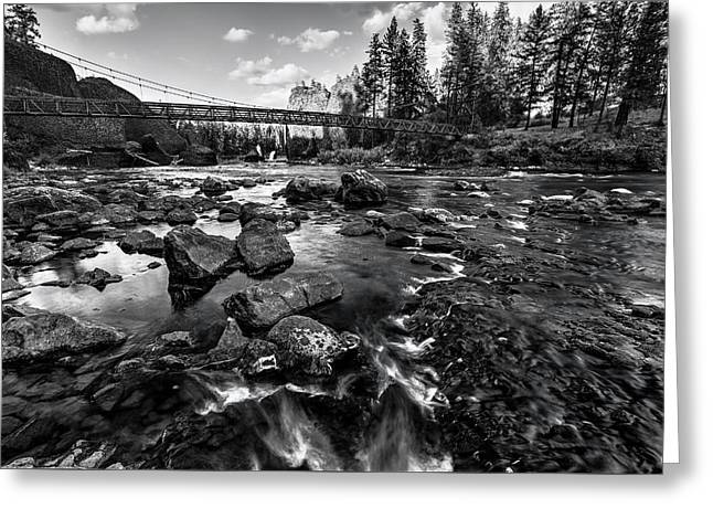 Riverside At Bowl And Pitcher Greeting Card by Mark Kiver