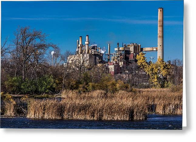 Riverside Factory Greeting Card by Rockland Filmworks