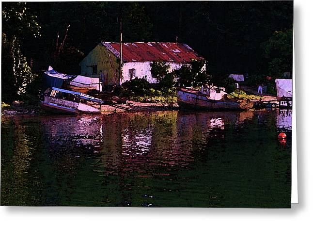 Riverside Reflections Greeting Card by Stuart Parnell