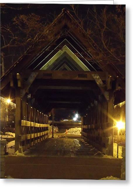 Anna Villarreal Garbis Greeting Cards - Riverwalk Bridge I Greeting Card by Anna Villarreal Garbis