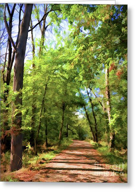 Riverway Trail - Bisset Park - Radford Virginia Greeting Card