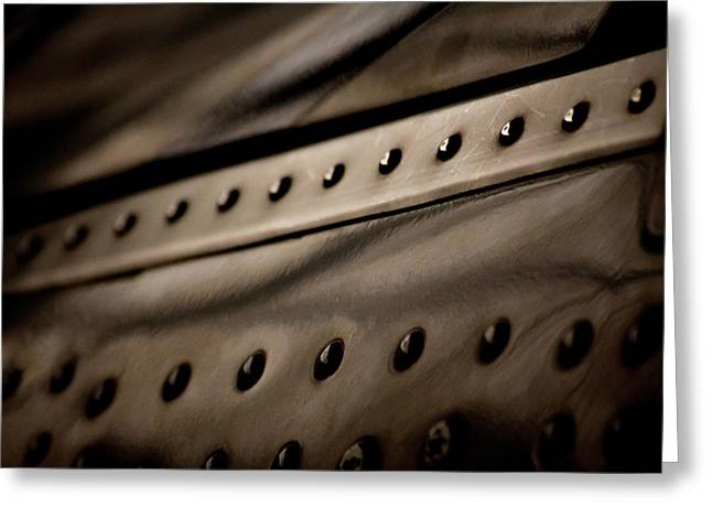 Greeting Card featuring the photograph Rivets by Paul Job