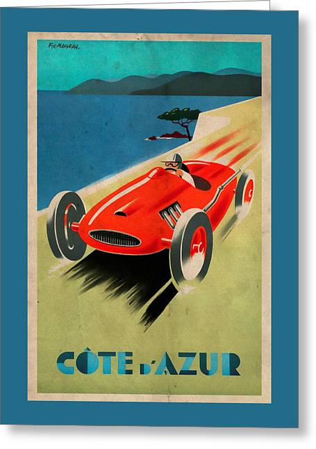 Riviera - Cote D'azur - Vintagelized Greeting Card
