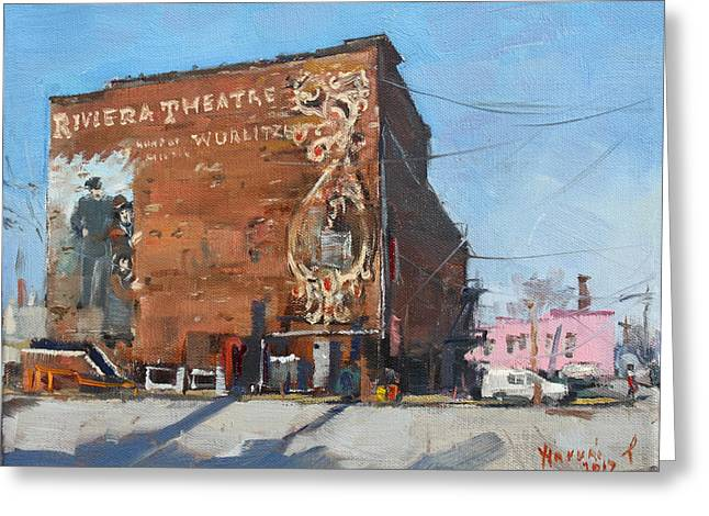 Riviera Theatre Historic Place In North Tonawanda Greeting Card