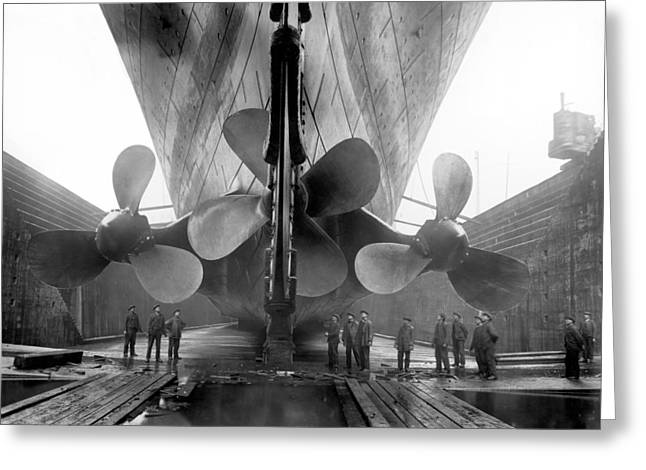 Rms Titanic Propellers Greeting Card