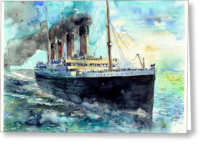 Rms Titanic White Star Line Ship Greeting Card