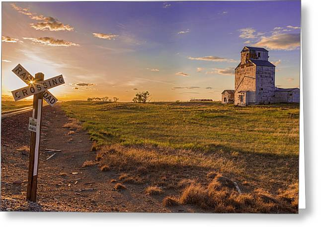 End Of The Day On The Montana Hi Line Greeting Card