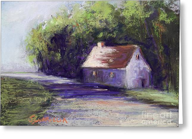 Road And House Greeting Card by Joyce A Guariglia