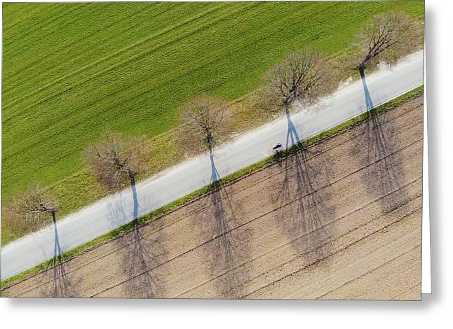 Road And Landscape From Above Greeting Card