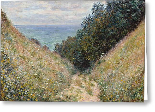 Road At La Cavee Pourville Greeting Card by Claude Monet