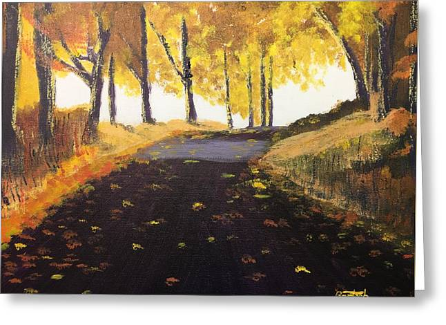 Road In Autumn Greeting Card