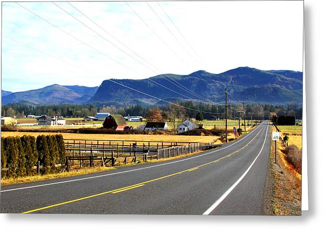 Greeting Card featuring the photograph Road In The Mountains by Sergey  Nassyrov
