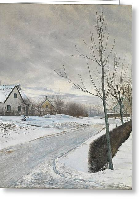 Road In The Village Of Baldersbrnde Greeting Card