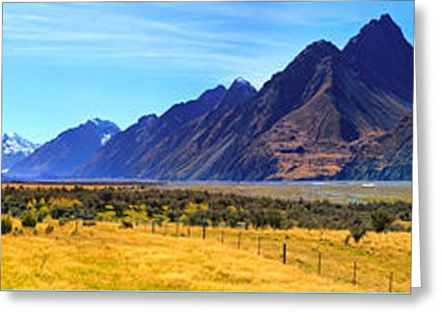 Road Into Mt Cook Greeting Card