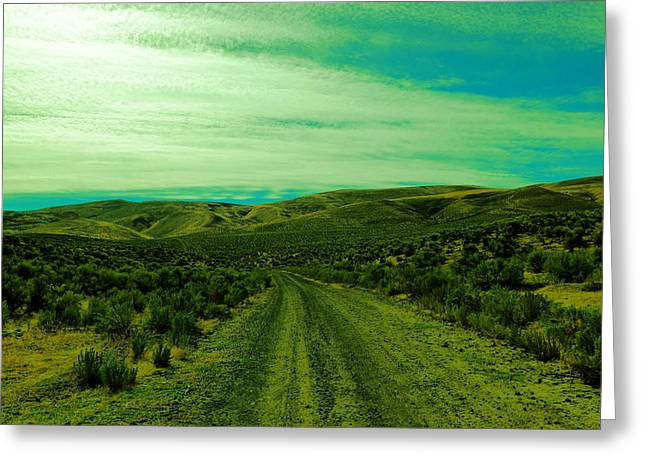 Road Into The Foothills Greeting Card by Jeff Swan