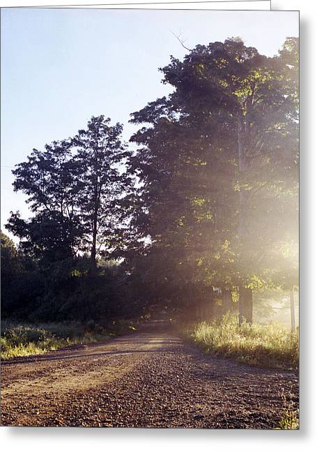 Greeting Card featuring the photograph Road by Josean Rivera