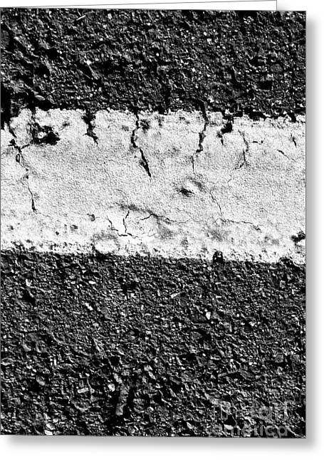 Road Line And Pavement Details Greeting Card by Jorgo Photography - Wall Art Gallery