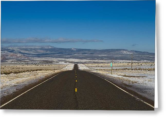 Greeting Card featuring the photograph Road Nm 96 by Lou  Novick