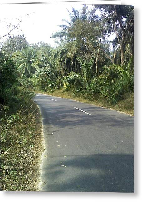 Road Or Life Greeting Card by Yousuf Khan