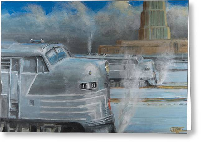 Road Power At Buffalo Greeting Card by Christopher Jenkins