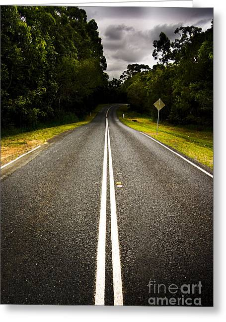 Road Greeting Card by Jorgo Photography - Wall Art Gallery