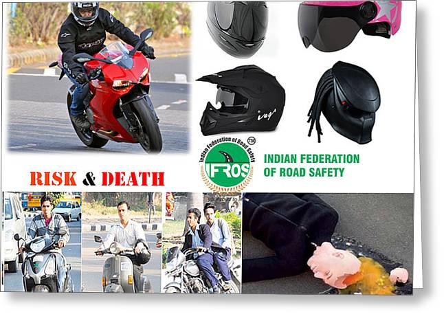 Road Safety In India Greeting Card