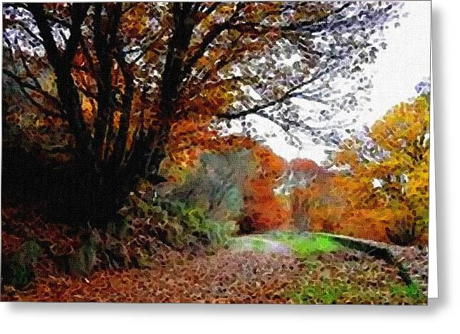 Road Through An Autumn Forest H B Greeting Card