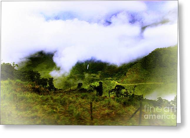 Greeting Card featuring the photograph Road Through The Andes by Al Bourassa