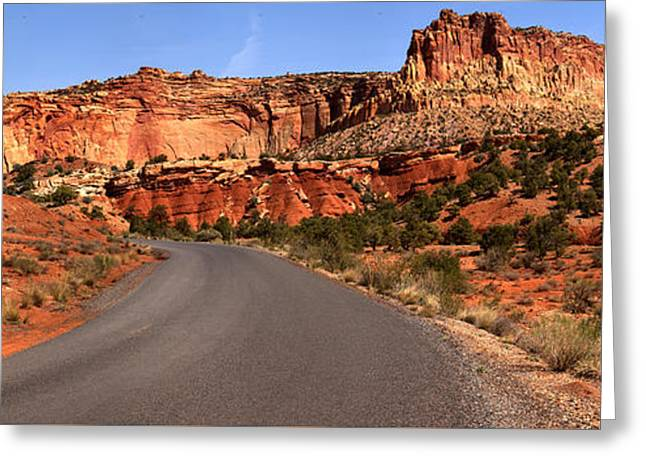 Road Through The Waterpocket  Greeting Card