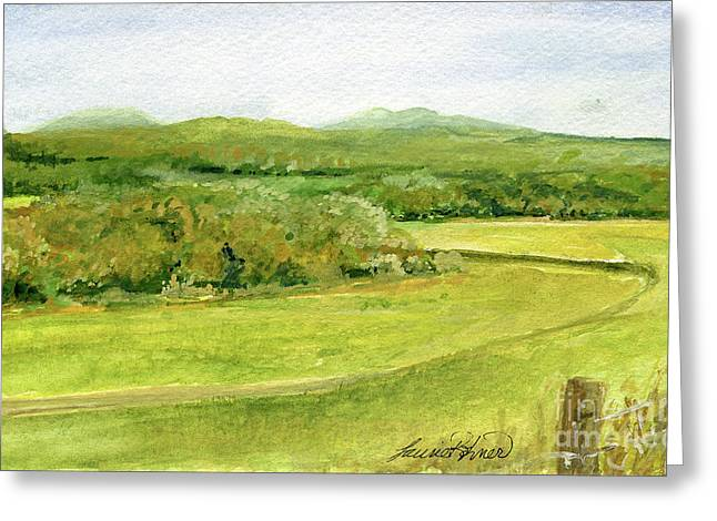 Road Through Vermont Field Greeting Card