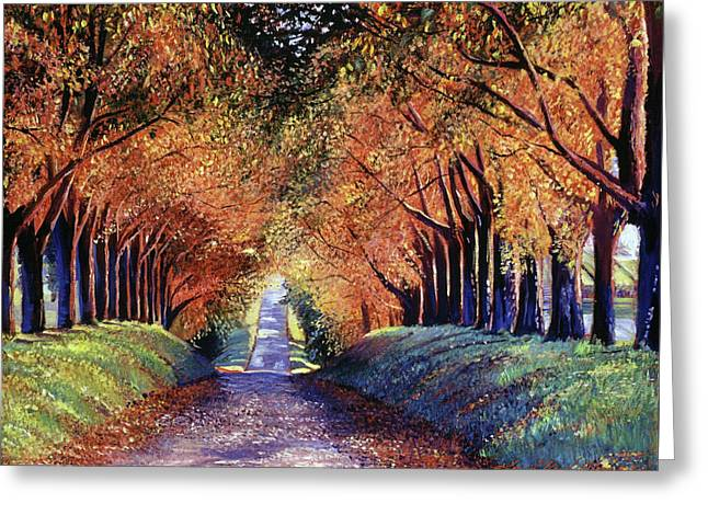 Road To Cognac Greeting Card by David Lloyd Glover