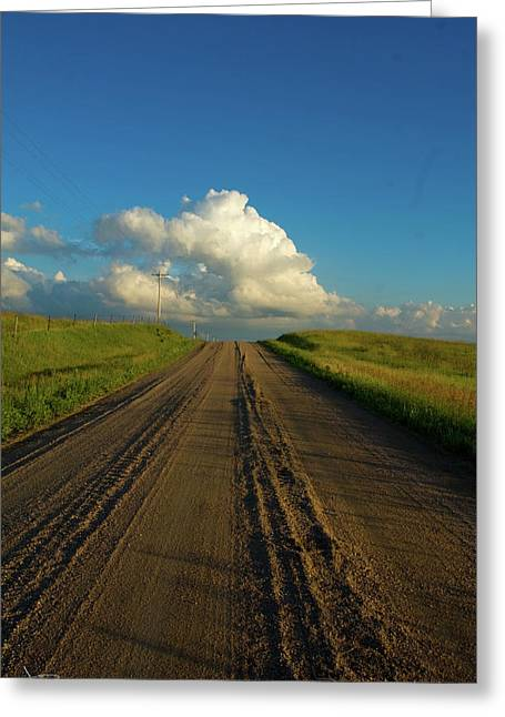 Road To Cumulus Greeting Card