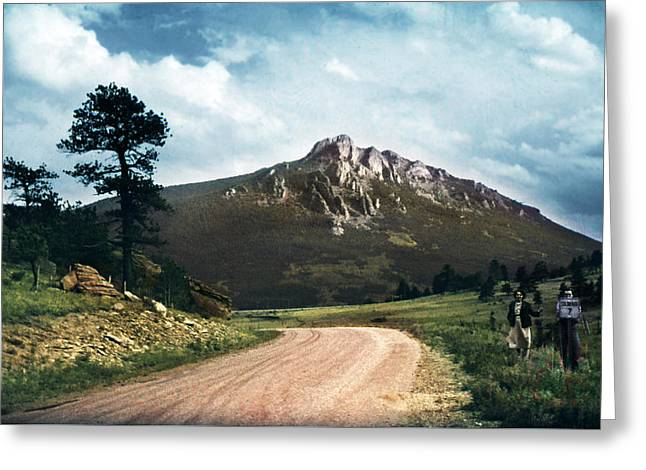 Road To Estes 1950 Greeting Card by Marilyn Hunt