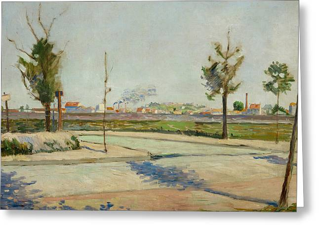Road To Gennevilliers Greeting Card by Paul Signac