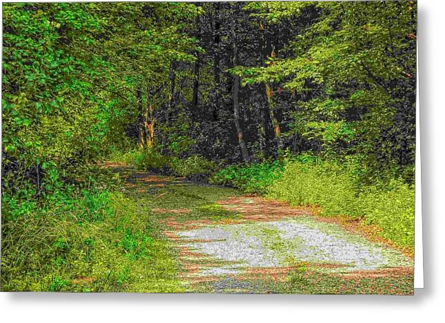 Road To Heaven Greeting Card by Michael Degenhardt