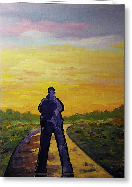 Greeting Card featuring the painting Road To Heaven by Ray Khalife