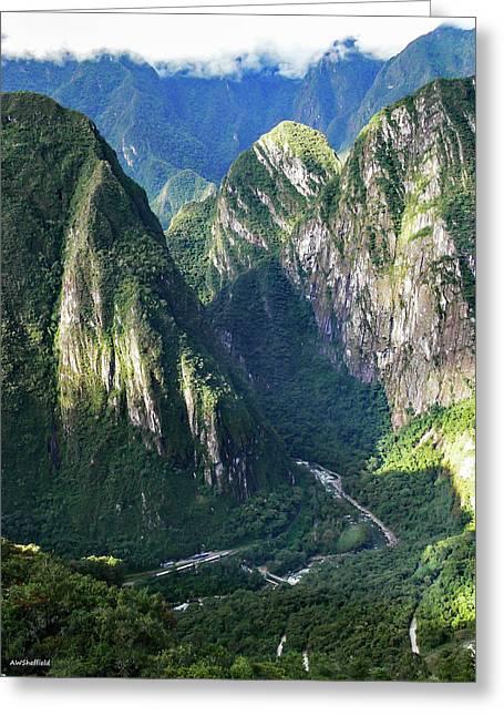 Road To Machu Picchu  Greeting Card