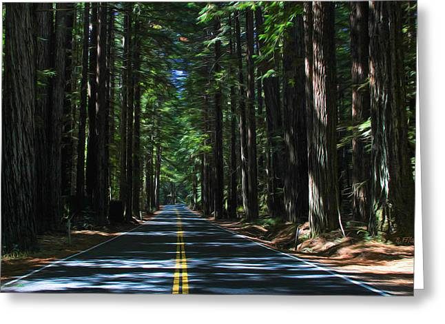 Road To Mendocino Greeting Card