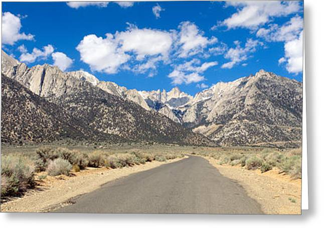 Road To Mount Whitney, Lone Pine Greeting Card by Panoramic Images
