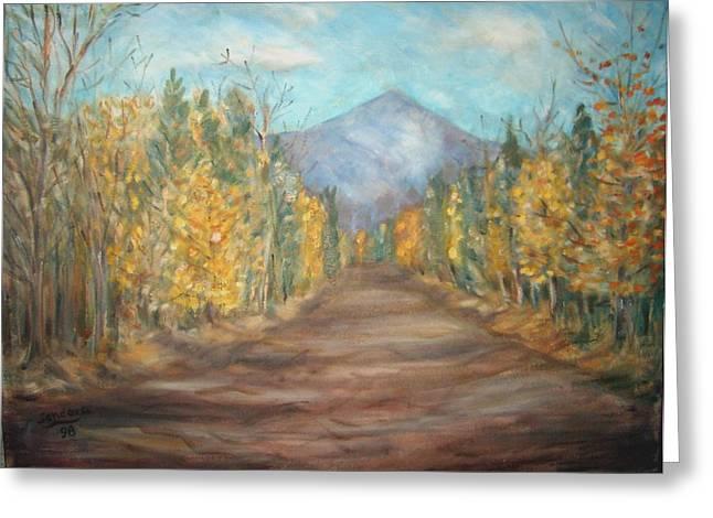 Road To Mountain Greeting Card by Joseph Sandora Jr