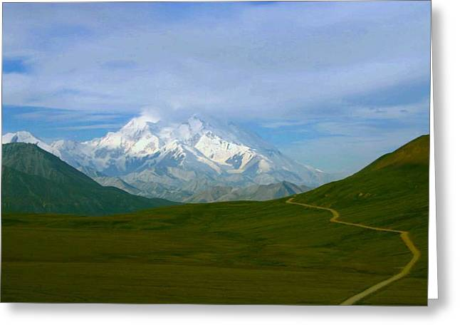 Greeting Card featuring the photograph Road To Mt Mckinley by Jack G  Brauer