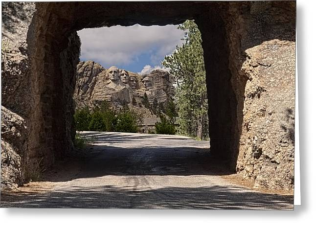 Road To Mt. Rushmore Greeting Card by Michael Flood