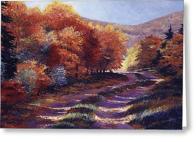 Road To My Heart Greeting Card by David Lloyd Glover