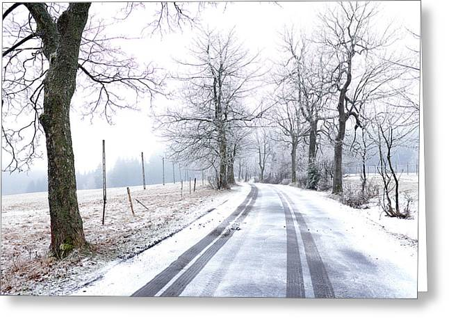 Greeting Card featuring the photograph Road To Nowhere  by Dubi Roman