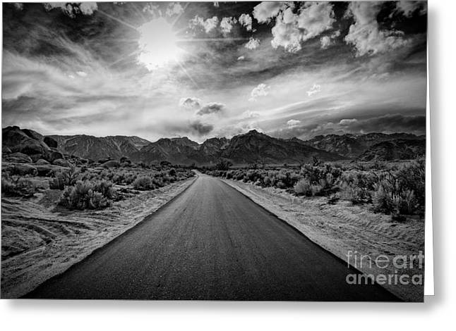 Road To Oblivion Greeting Card by Jennifer Magallon