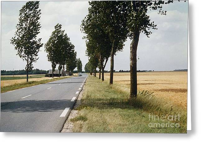 Road To Orleans France Greeting Card by Fred Jinkins